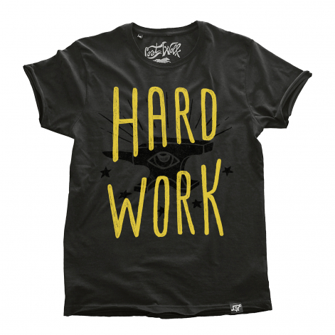 camiseta motera HARD WORK color Plomo