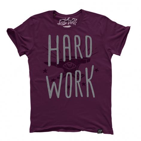 camiseta motera Hard Work color morado