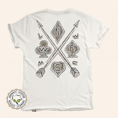 Camiseta motera Arrows algodón orgánico para hombre