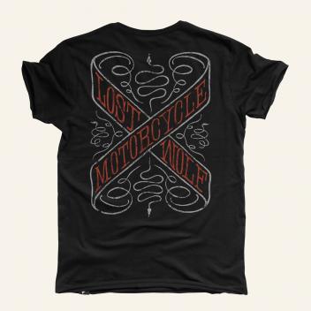 camiseta motero SNAKEPIT color negro