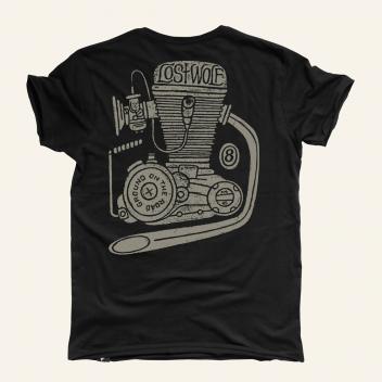 Camiseta motera ENGINE BLACK