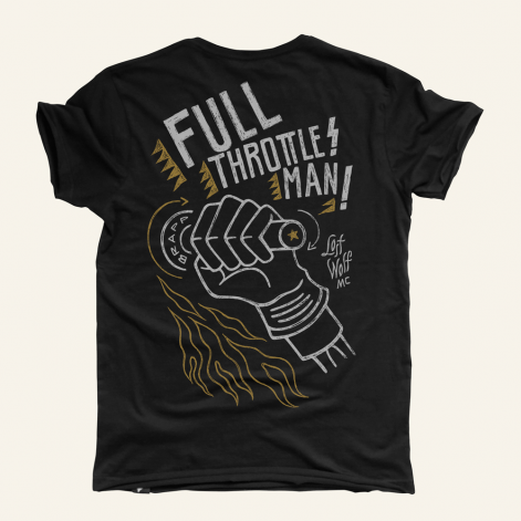 camiseta motero hombre Full Throttle negra