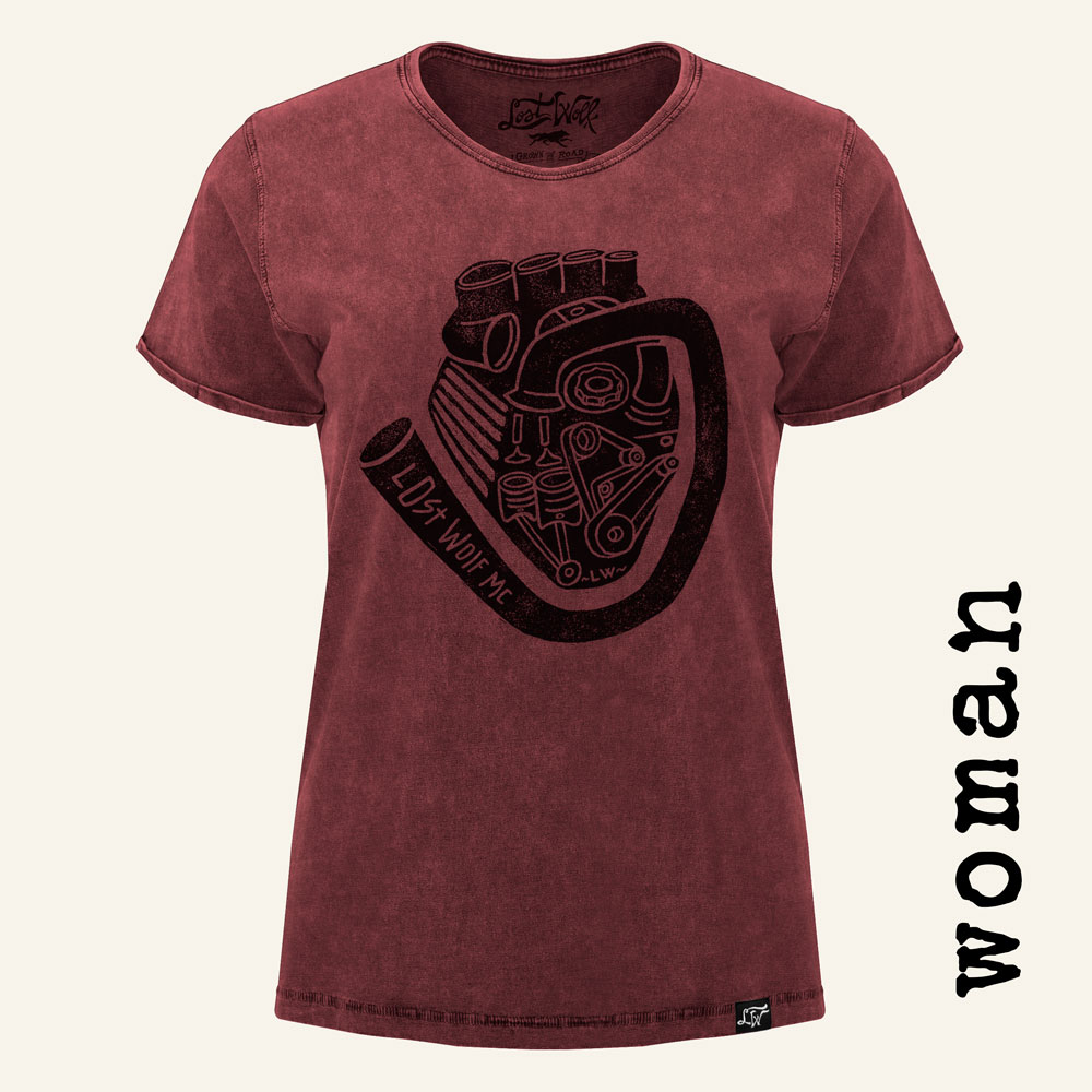Camiseta motera mujer MOTORHEART RED WOMAN