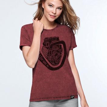 camiseta motera para mujer