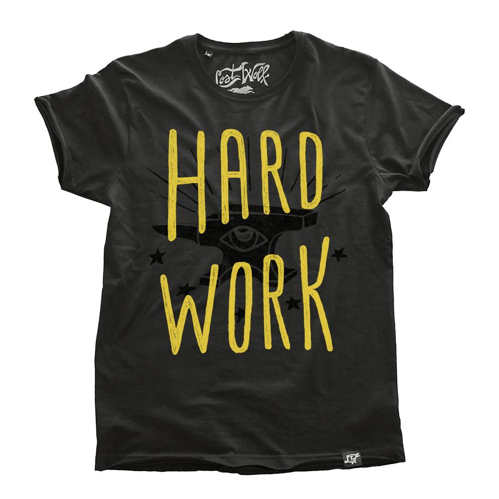 camiseta motero HARD WORK color Plomo