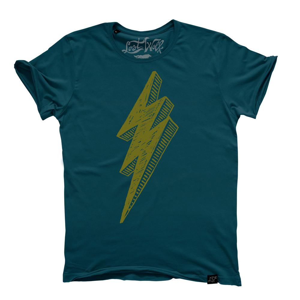 camiseta motera Electric Danger verde turquesa