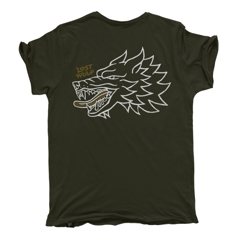 Camiseta motero WILD color verde militar