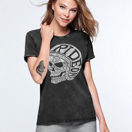 camisetas moteras mujer