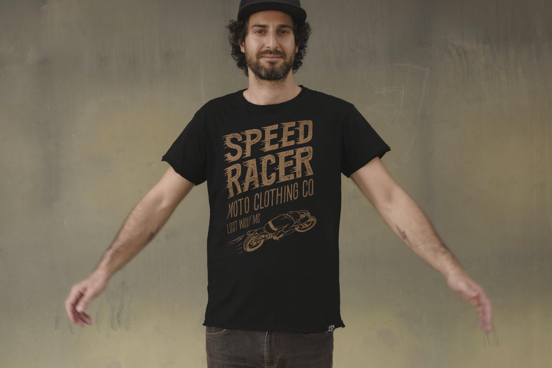 Camiseta hombre motera SPEED RACER color negra