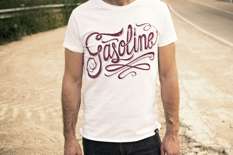 Camiseta hombre motera GASOLINE